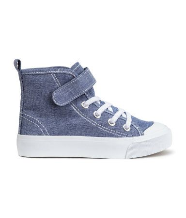 Blue high top sneakers for Gavin to wear. Could be worn with any of the items pinned for Gavin.