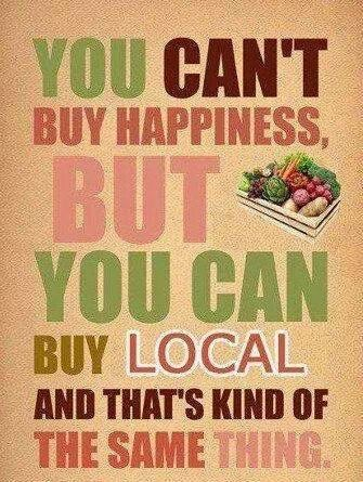 Buy local food!