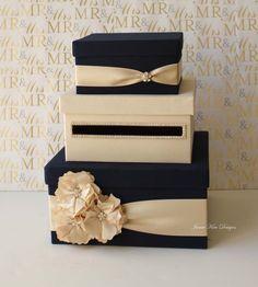 black gold ivory wedding card holder - Google Search