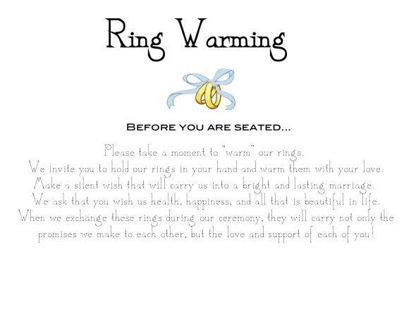 Ring Warming Ceremony Sign :  wedding diy ring warming ceremony unique paper frame sign ring Ringwarm