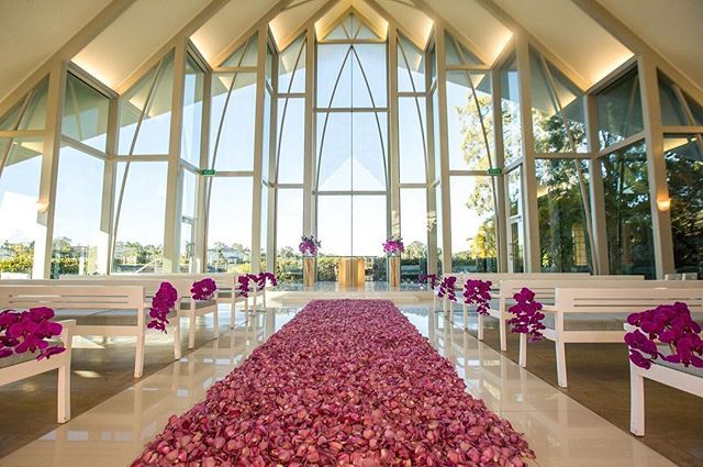 In Love With This Perfection of Purple! A Rose Petal Aisle Created by @celebrationsbyalysia & Her Amazing Team // Stylist @celebrationsbyalysia // photographer @alirasoul // Roses @allinseasonflowers // Flowers @thebellabloomco // Tulips @redlandsfreshflowersbne
