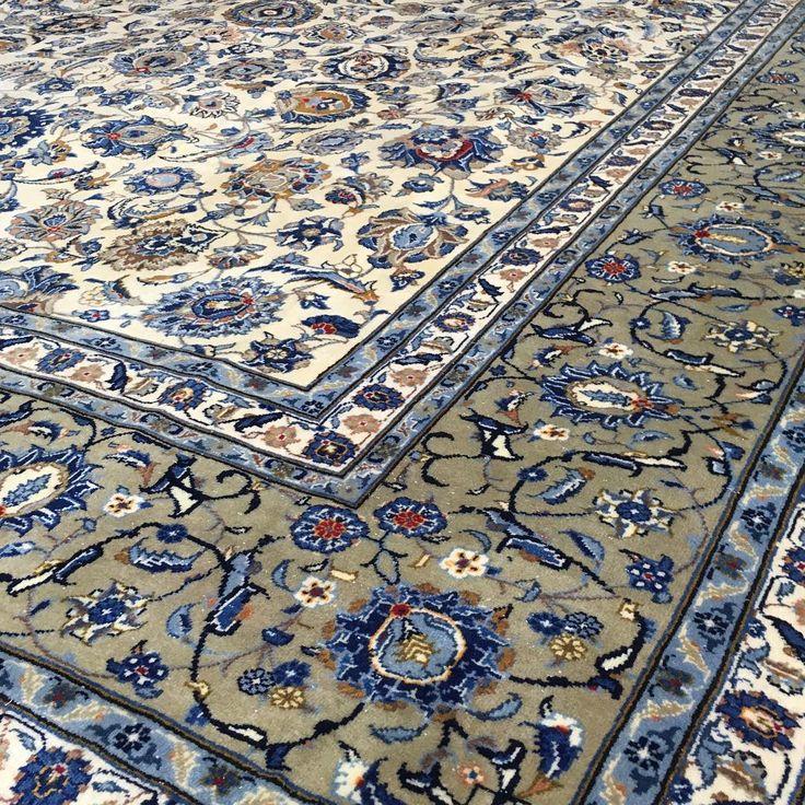 Traditional Kork wool Pistachio Kashan rug from Iran.  #wool #design #kashan #rug #rugs #handmade #ruglife #rozelle #sydney #sydneystyle #sydneylocal #interiorinspiration #interiordesign #interior #livingroomdecor #decor #designinspiration #carpets #homedecor #homedesign #kilim #homestyle #iloverugs