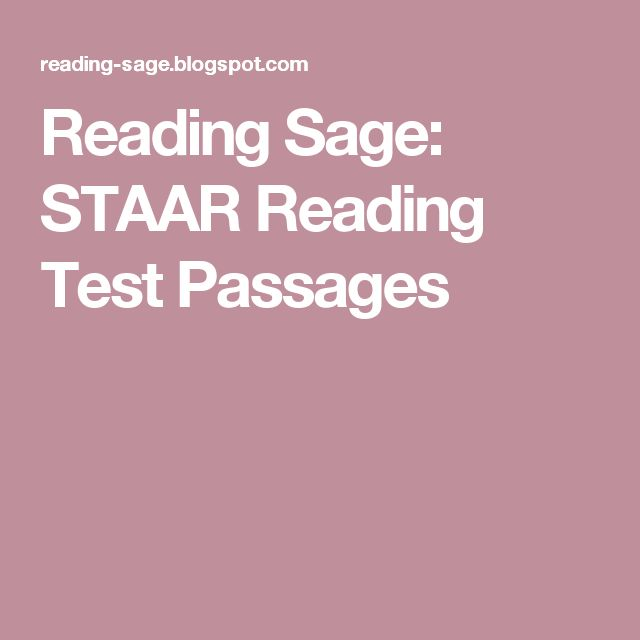 Reading Sage: STAAR Reading Test Passages
