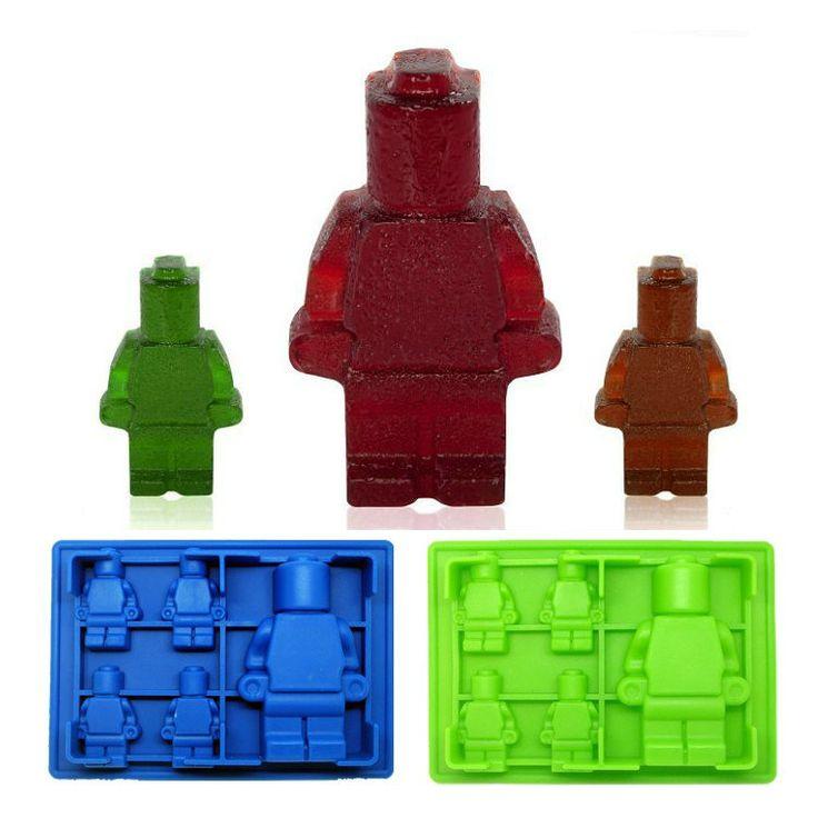 LEGO 5 Mesmo Robô Molde de Gelo de Silicone Bandeja de Cubos de Gelo