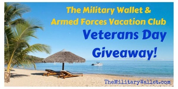 The Military Wallet & Armed Forces Vacation Club Veterans Day Giveaway