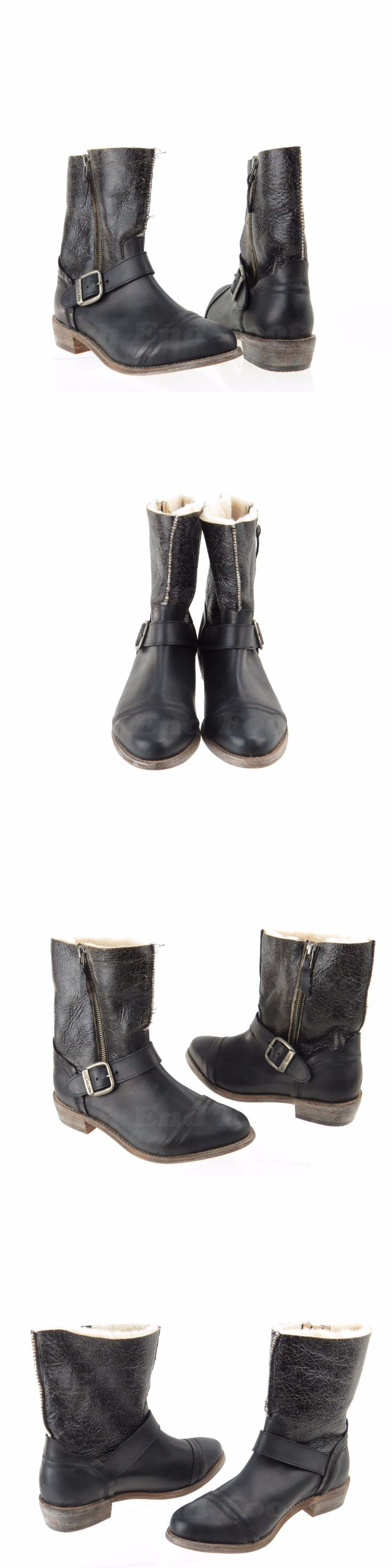 Women Boots: Koolaburra 7725 Womens Shoes Black Leather Fur Ankle Boots Size 8 M, Eu 39 New! -> BUY IT NOW ONLY: $109.99 on eBay!