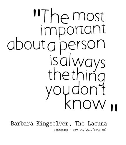 Quotes from Siti Marnina: The most important about a person is always the thing you don\'t know - Inspirably.com