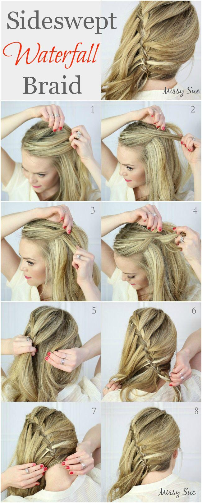 Fabulous 1000 Ideas About Waterfall Braids On Pinterest Braids Fishtail Short Hairstyles For Black Women Fulllsitofus