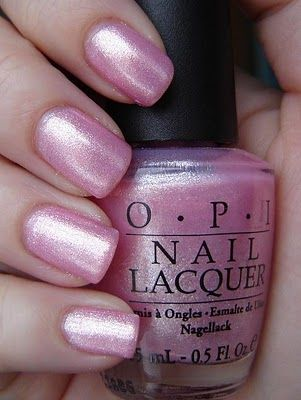OPI: Princesses Rule  This is actually much more sheer and pale.  It looks good over an opaque pink nail polish.