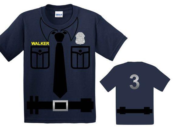 Anniversaire de la police Police anniversaire chemise fête