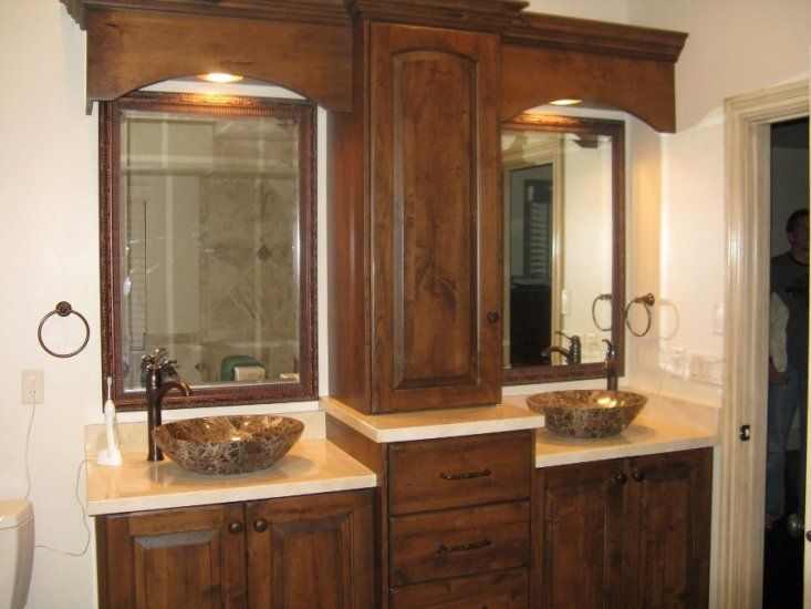 Frames Over These Plain Mirror Gave This Bathroom Makeover The Finishing Touch It Was Lacking