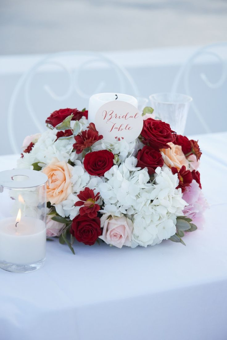Red, Blush, White, Roses, Table Details, Style, Caldera View, Santorini Weddings