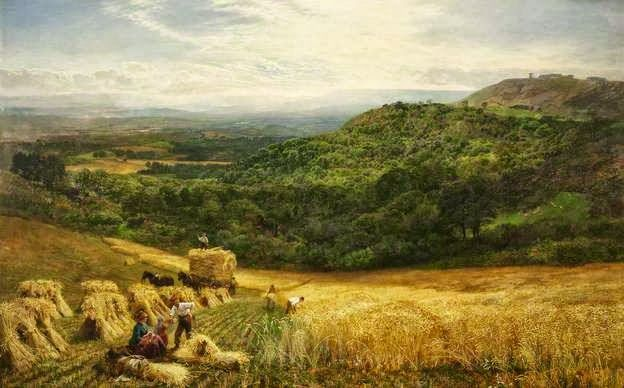 George Vicat Cole - Harvest Time, 1860
