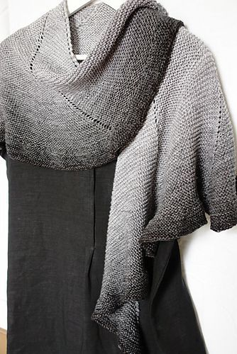 Beautiful Shawl...Free Pattern! Love the ombré effect.