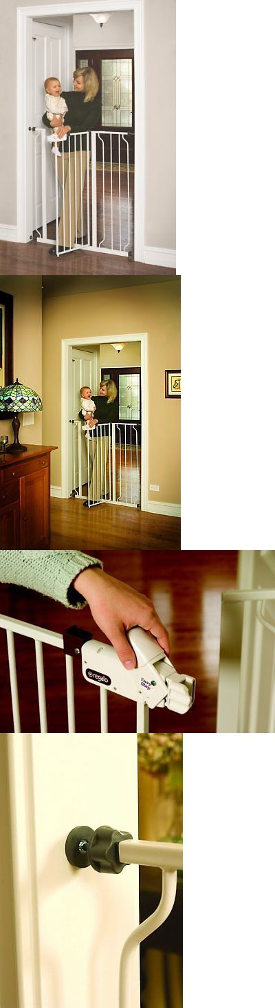 Baby Safety and Health 20433: Extra Tall Walk Thru Baby Gate Indoor Fence Pet Dog Safety Barrier Swinging Door -> BUY IT NOW ONLY: $43.52 on eBay!