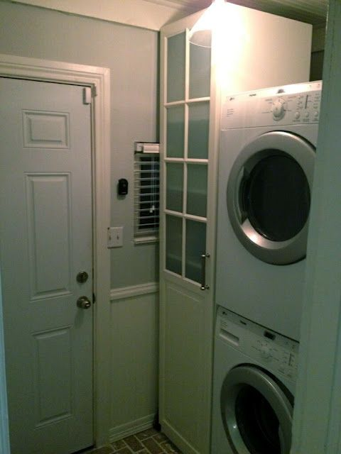 Small Laundry Room Makeover. Still Deciding If We Should Stack Or Not.
