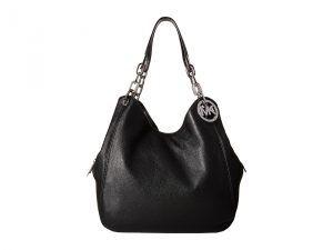 MICHAEL Michael Kors Fulton Large Shoulder Tote (Black) Tote Handbags