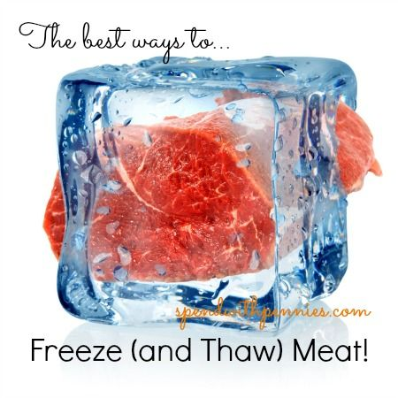 The Best Ways to Freeze (and thaw) Meat! -- freezing meat grosses me out but we ...