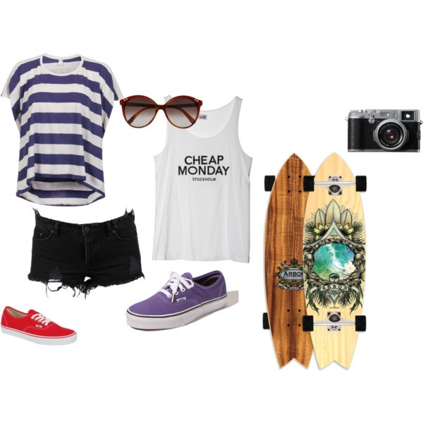Longboard outfit.