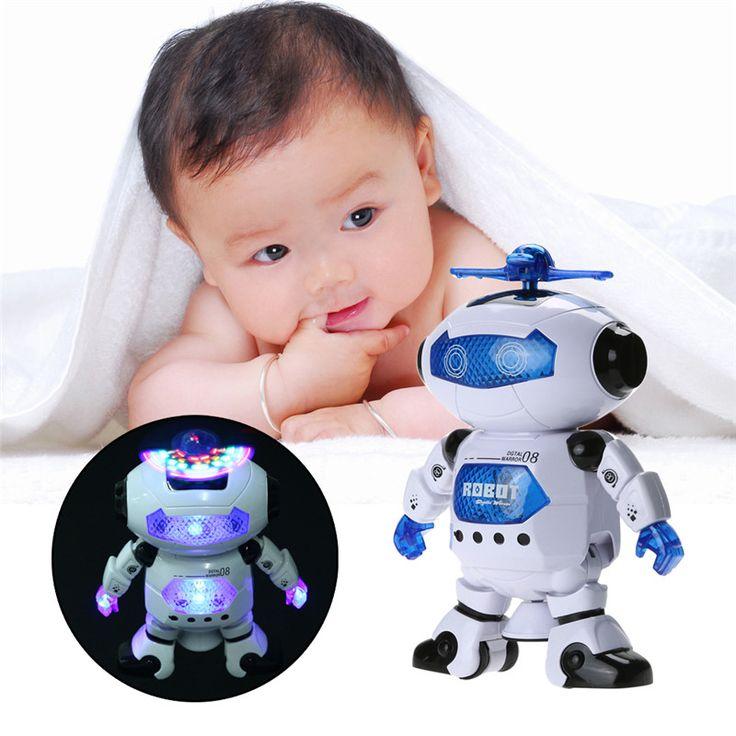 360 Rotating Cerdas Ruang Tari Robot Elektronik Berjalan Mainan Dengan Musik Cahaya Hadiah Untuk Anak-anak Astronot Mainan untuk Anak