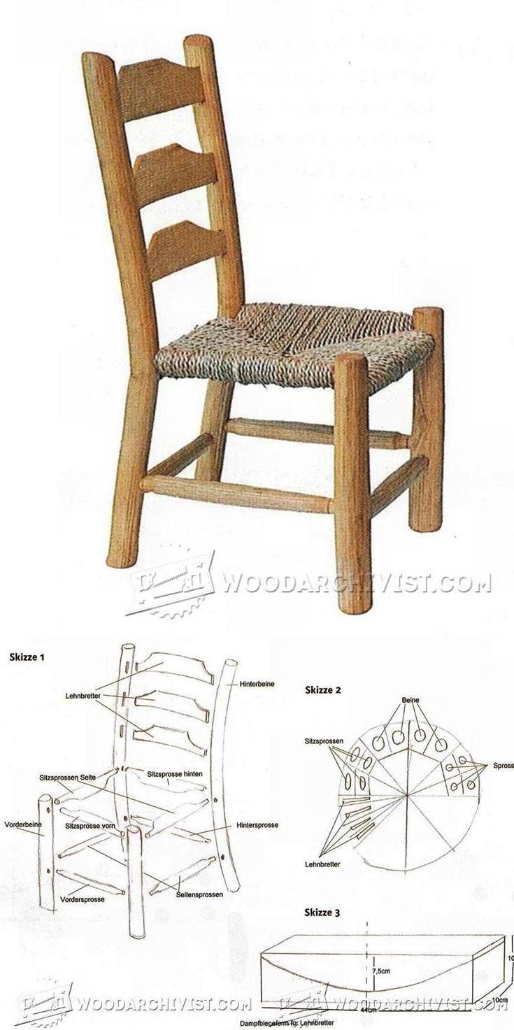 Rustic Kids Chair Plans - Children's Furniture Plans and Projects   WoodArchivist.com