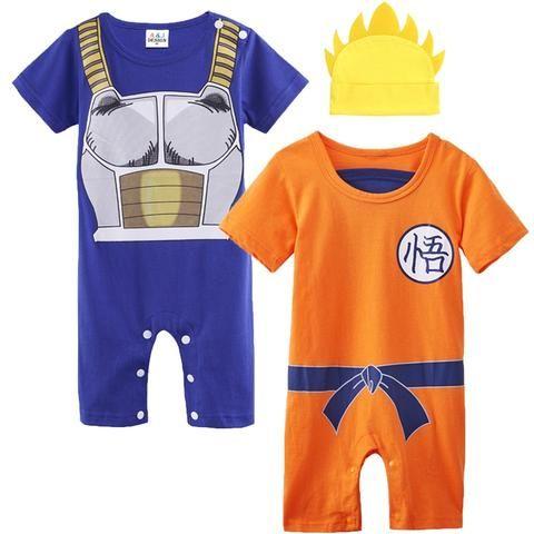 950eedf5c57c Baby Boy Romper Dragon Ball Z Costume Vegeta Goku Infant 2PCS ...