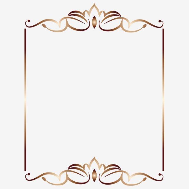 Royal Gold Frame Png Element Gold Border Gold Border Png And Vector With Transparent Background For Free Download Gold Frame Glitter Frame Frame