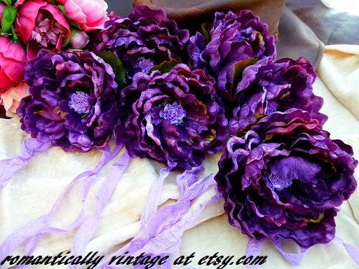 Check out this item in my Etsy shop https://www.etsy.com/listing/257574316/curtain-tiebacks-purple-flowers-drapery