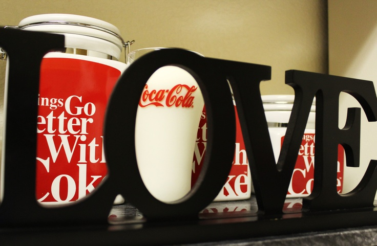 Day 2. Still getting used to fitting in my Feb. Photos! Just a quick pic of words. Part of my coke kitchen. Coke is classic <3