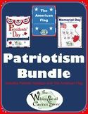 This product includes Presidents' Day, Memorial Day, The American Flag with Flag Day and Independence Day. It contains anticipation guides to determine knowledge before and after the presented lessons. It is rich with vocabulary development. There are also informative poems and interesting facts. Teachers can check knowledge gained through writing prompts, worksheets, a graphic organizer and fun activities.