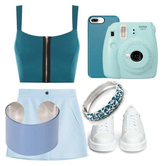 """""""Teal💙"""" by veggiegirl101 ❤ liked on Polyvore featuring WearAll, Paul & Joe, Speck, Robert Clergerie, Fujifilm and Maison Margiela"""