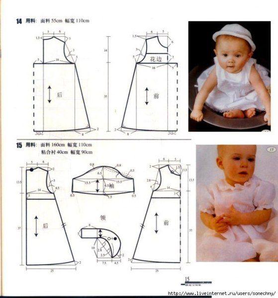 Como hacer prendas de bebe con moldes