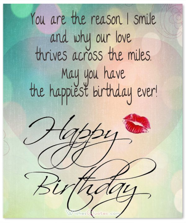 1000+ Ideas About Romantic Birthday Wishes On Pinterest