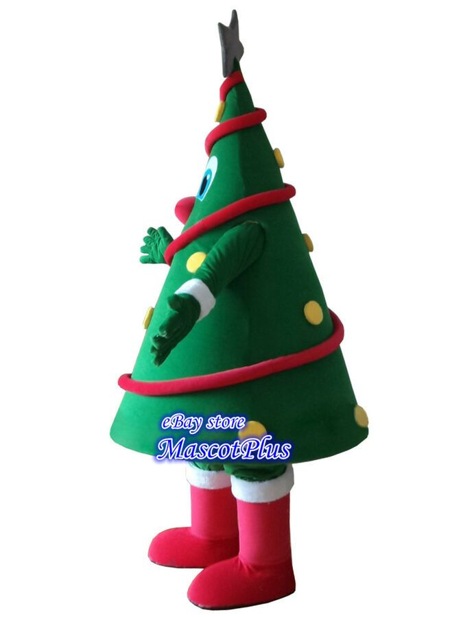 Christmas Tree Mascot Costume Fancy Xmas Party Dress Cosplay Dress Adults Outfit Costume Fancy Masco With Images Xmas Party Dresses Mascot Costumes Adult Outfits