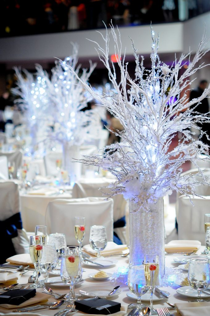 Winter wonderland themed Centerpieces