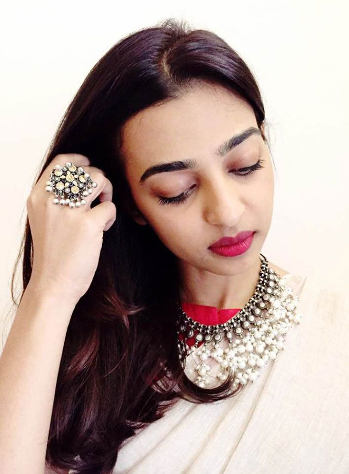 Radhika Apte Wears Red In The Most Subtle Way - MissMalini