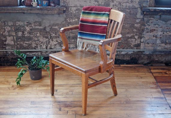 Wooden Library Furniture ~ Best bankers chairs images on pinterest antique