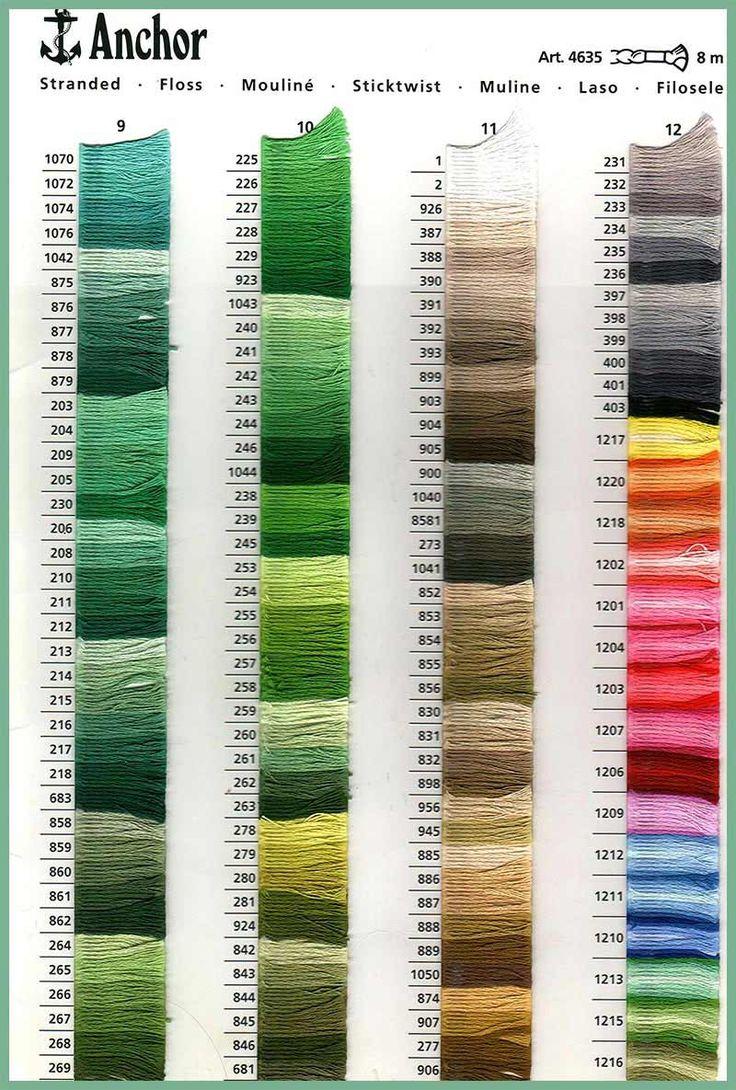 38 best Tabla de colores de hilos para bordar images on Pinterest ...