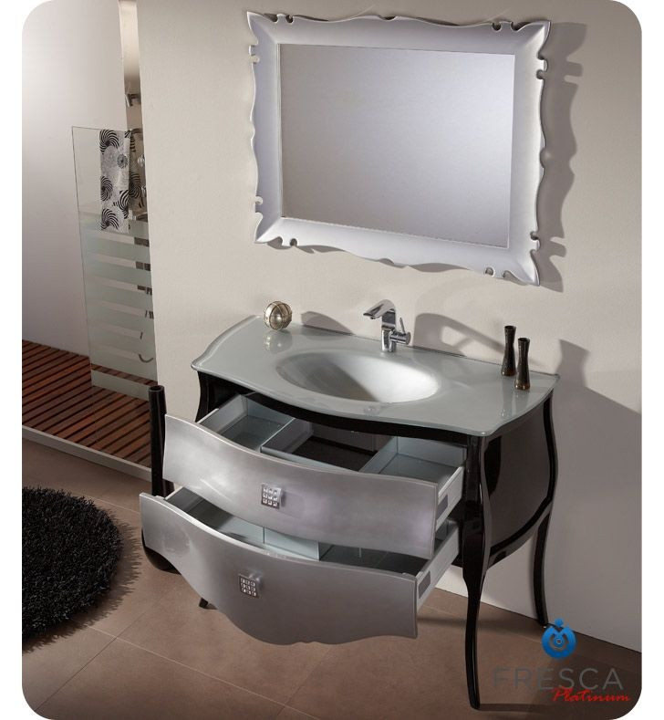 Photo Album For Website  BL Silver Black Bathroom Vanity with