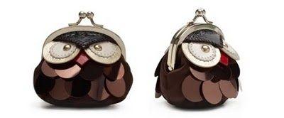 Kate Spade Owl Coin Purse. How cute. It looks so grumpy!