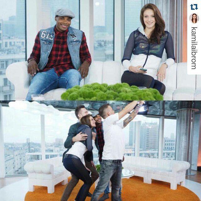 Kamila Ibrom z Top Model Polska podczas dzisiejszego nagrania w Dzień Dobry TVN w ciuchach z limitowanej kolekcji #RSx4F