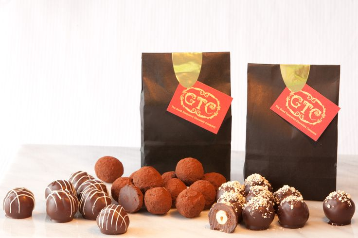 Hand crafted Truffle Bags - Limoncello, Cocoa dusted whisky, Hazelnut liqueur