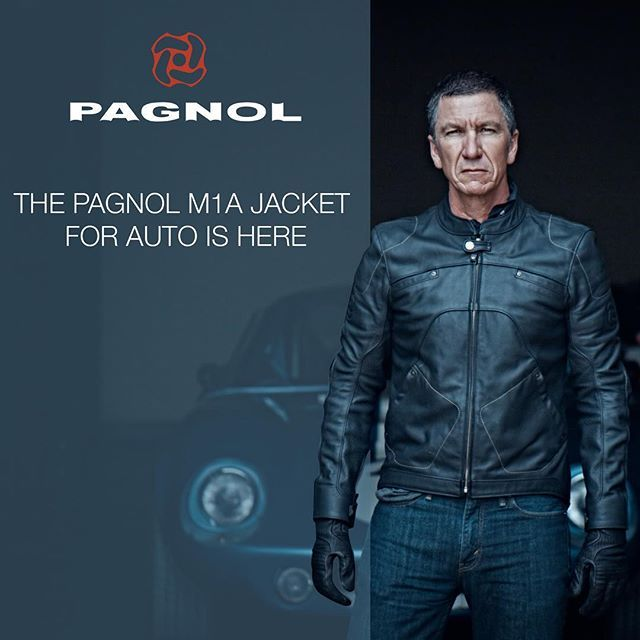 """If you haven't heard, our new co-brand www.Pagnol-Auto.com has launched introducing the M1A """"Auto"""" jacket featuring Specialized Bicycles creative director, Robert Egger and his Ford Daytona. For the 1st time, a moto jacket crosses over to the auto world! Due to the lack of great options at a good price. The M1A is our moto M1 adapted for driving and civilian use! Pre sale going on now at 15% off for the 1st 20 jackets! Follow us @pagnol.auto #supercars #vintagecars #sportscars #auto…"""