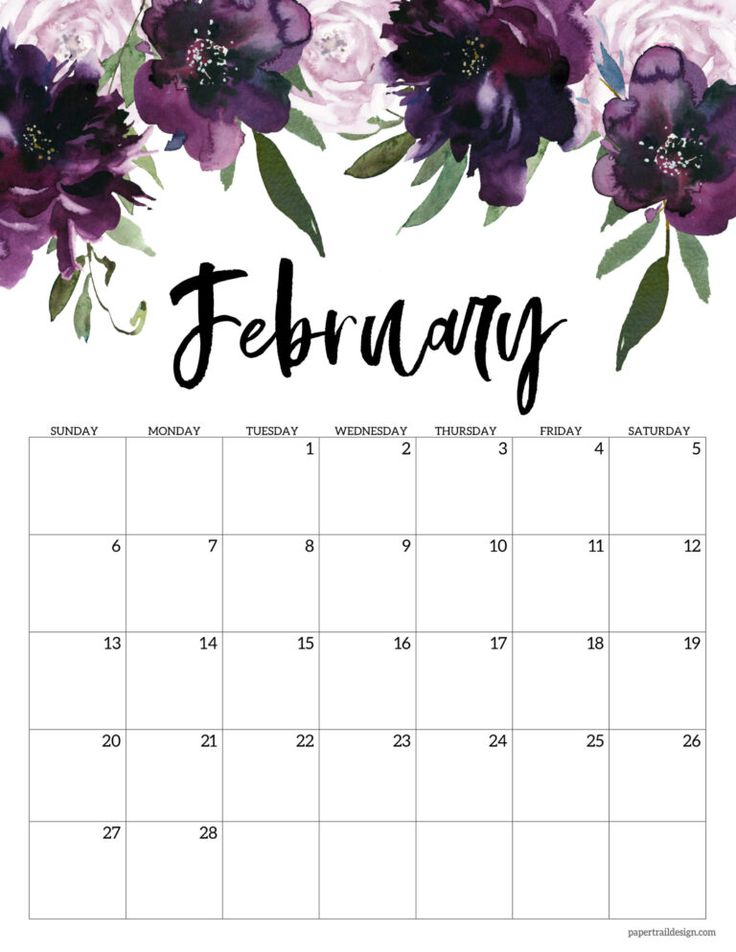 Free 2022 Calendar Printable Floral Paper Trail Design In 2021 Calendar Printables Monthly Calendar Printable Diy Calendar Printable