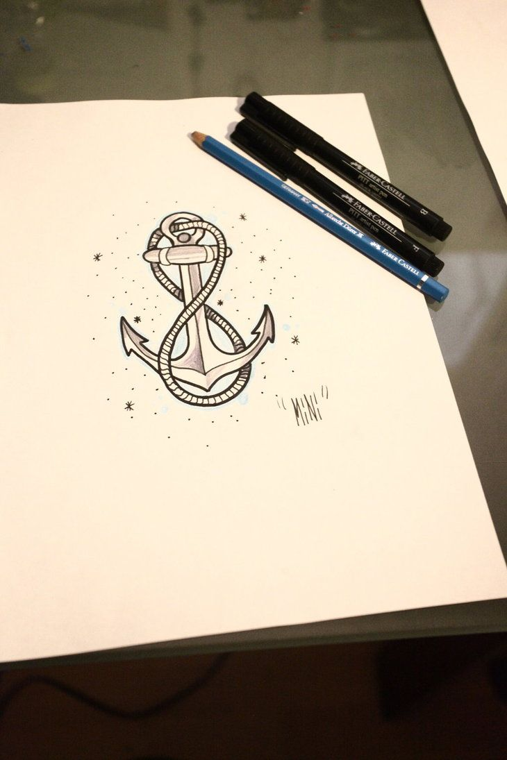 anchor with infinity rope... Maybe a quote or some words on the inside?