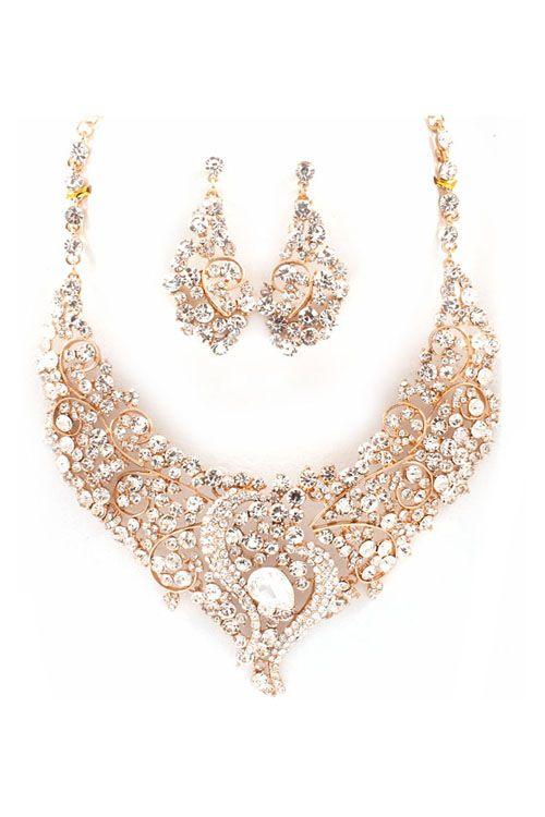 Katherine Necklace Set in Crystal
