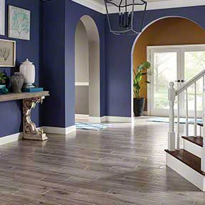 This entry way looks like it is hardwood - when actually thats tile!