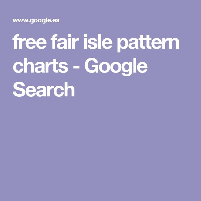 free fair isle pattern charts - Google Search