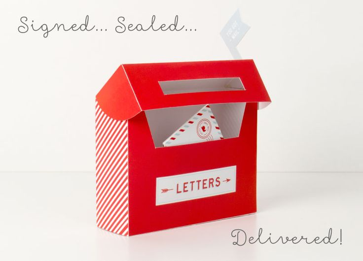 Signed, sealed, delivered! | Free Mail Box Printables ~ Tinyme Blog