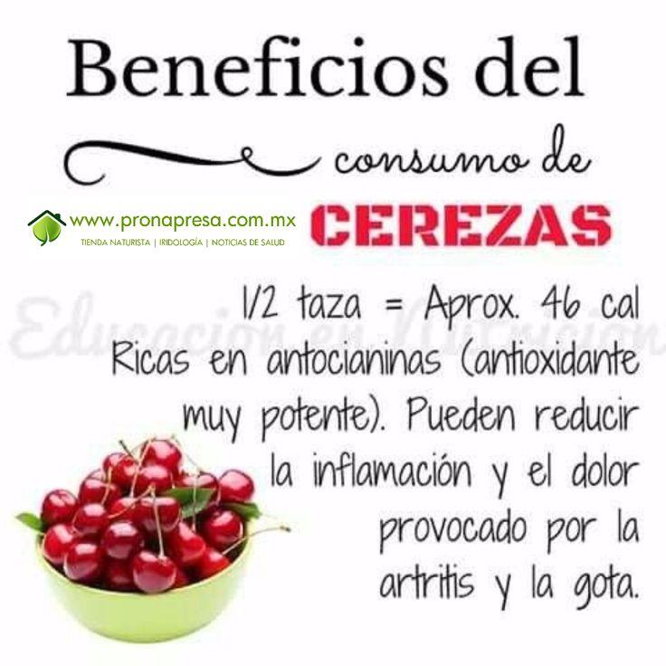 Beneficios de consumir cerezas.  Para recibir ésta y otras noticias de salud y prevención directo a tu buzón, suscríbete aquí --> http://eepurl.com/83WVX